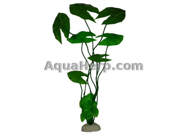 Plastic Plant Green Water Lily 50cm