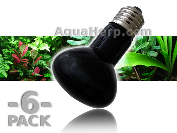Black Night Heat Lamp E27 25W / 6-PACK