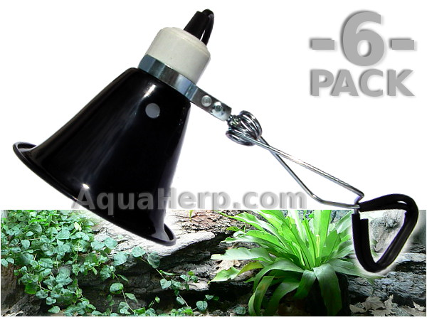 Terrarium Clamp Lamp Basic E27 max. 75W / 6-PACK