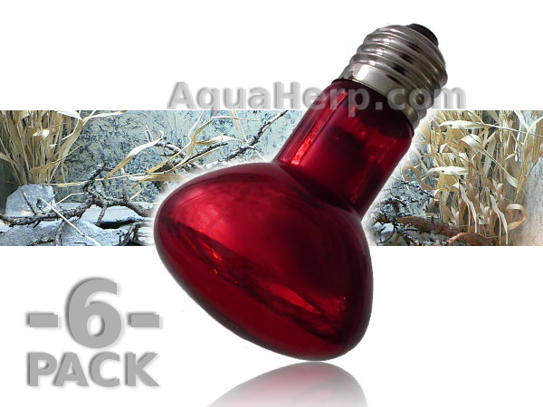 Red Infrared Heat Lamp E27 60W / 6-PACK